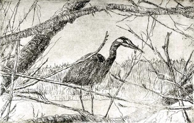 kroseth-etchings-heron-greenlake