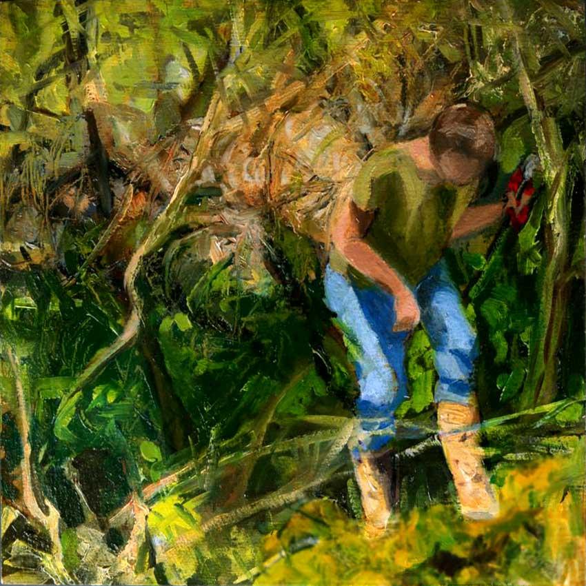 kroseth-morel-hunt-emerging-from-thicket
