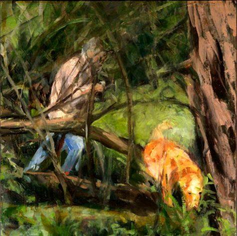 kroseth-morel-hunt-man-and-dog-woods