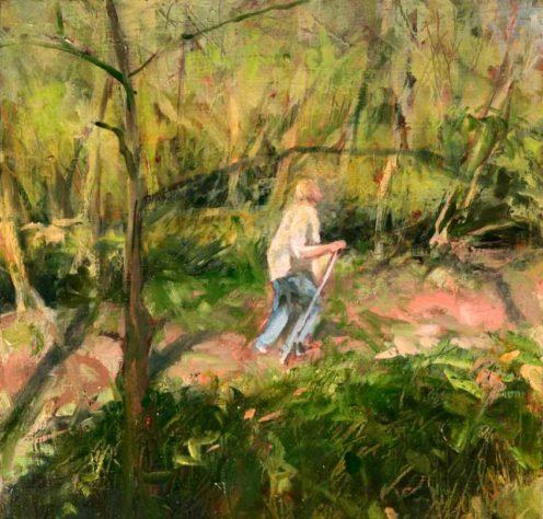kroseth-morel-hunt-path-through-woods