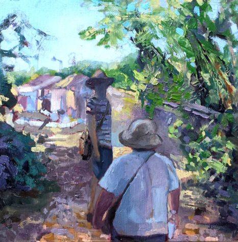 kroseth-road-to-guanes-entering-village