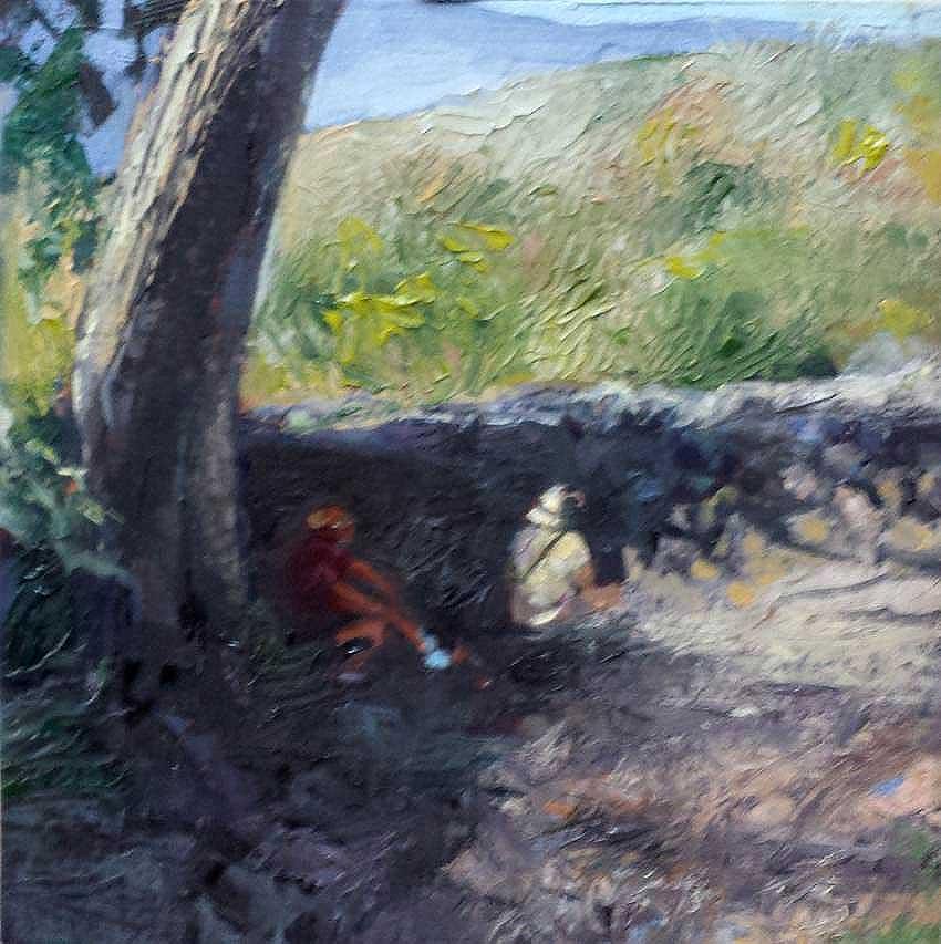 kroseth-road-to-guanes-resting-along-wall