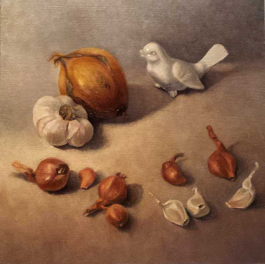 kroseth-still-life-ceramic-bird-with-alliums
