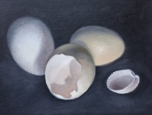 broken hollow egg 11-10-16 6x8 oil on canvas panel 850 wide 72 res