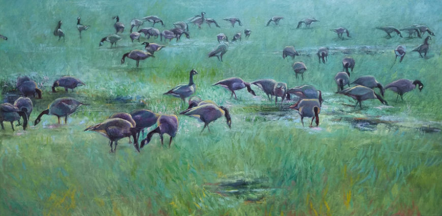 geese on the lawn 850w