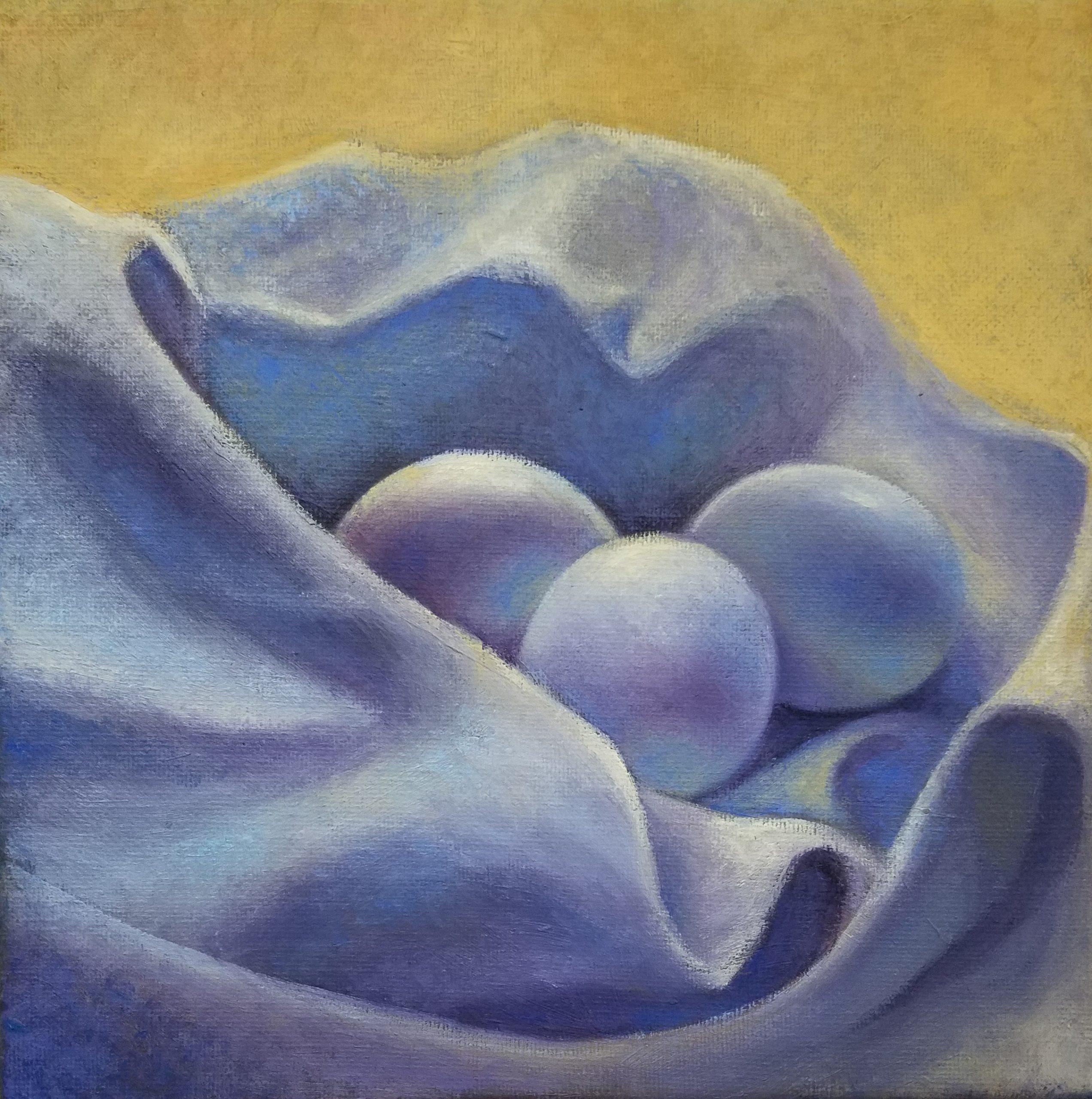 Eggs in a dishcloth