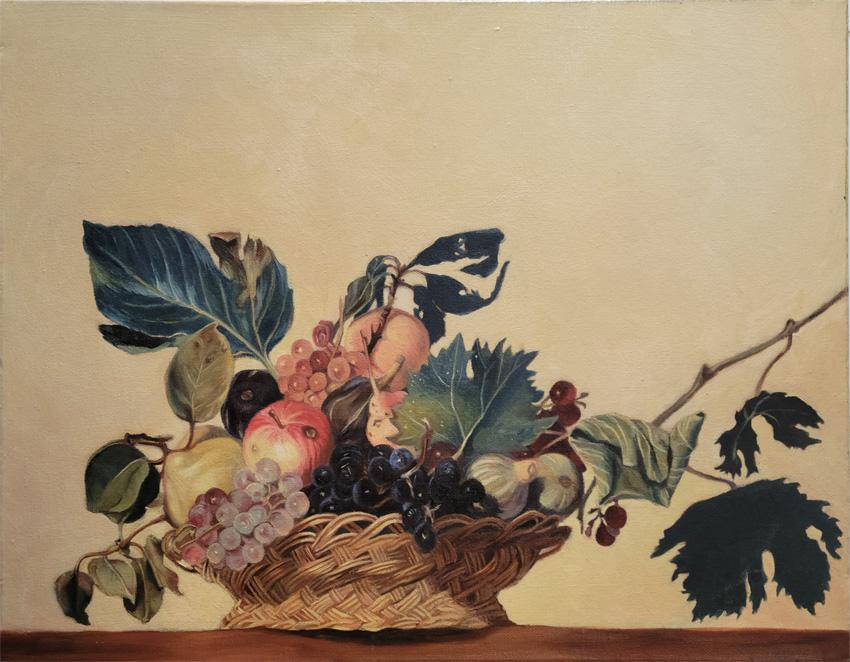 Basket of fruit after Caravaggio 850 72px